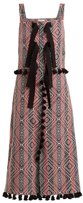 Altuzarra Villette Diamond Jacquard Dress - Womens - Red Print