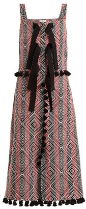Altuzarra Villette Diamond-jacquard Dress - Womens - Red Print