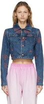 Thumbnail for your product : Opening Ceremony Blue Denim Allover Roses Jacket