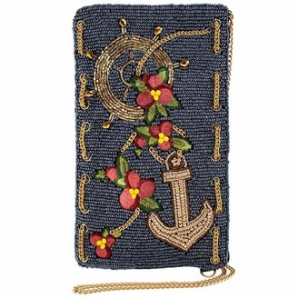 Mary Frances Hooked Up Beaded Crossbody Phone Bag