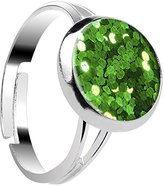 Body Candy Design Sparkle Green Adjustable Ring