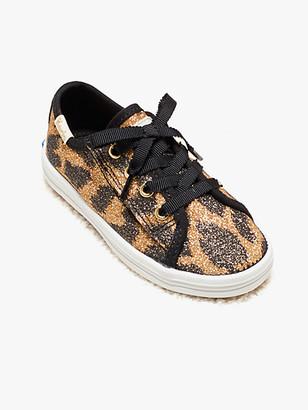 Kate Spade Keds Kids X Kickstart Glitter Leopard Toddler Sneakers