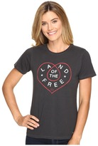 Life is Good Land Of The Free Heart Crusher Tee