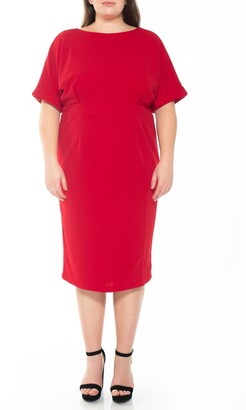 Alexia Admor Jacqueline Dolman Sleeve Sheath