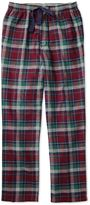 Burgundy Check Cotton Pyjama Trousers Size Large By Charles Tyrwhitt