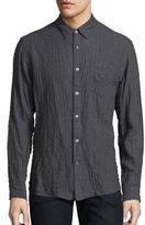 Billy Reid Puckered Long-Sleeve Shirt
