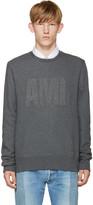 Ami Alexandre Mattiussi Grey Terry Logo Sweatshirt