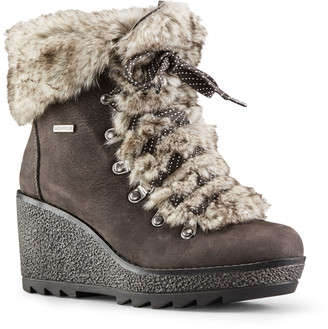 Cougar Penny Nubuck Faux-Fur Wedge Winter Booties