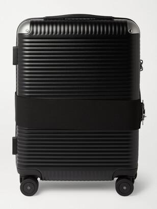 FPM Milano Bank Spinner 55cm Leather-Trimmed Polycarbonate Carry-On Suitcase - Men - Black