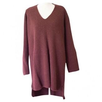 Hermes Burgundy Wool Dress for Women
