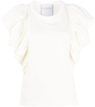 Philosophy di Lorenzo Serafini ruffle sleeve T-shirt