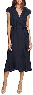 Vince Camuto Ruffled Faux-Wrap Dress - 100% Exclusive