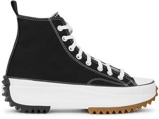 Converse Run Star Black Canvas Hi-top Sneakers