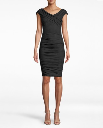 Nicole Miller Stewart Cotton Metal High V Dress