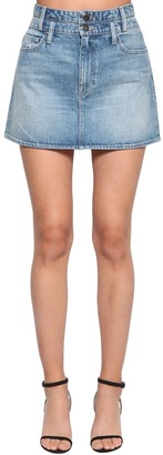Frame Le Mini Cotton Denim Skirt