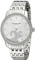 Stuhrling Original Women's Quartz Watch with Silver Dial Analogue Display and Silver Stainless Steel Bracelet 569.01