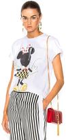 Victoria Beckham Cotton Jersey Minnie Mouse Tee in White.