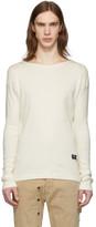Greg Lauren Off-White Paul and Shark Edition Rib Knit T-Shirt