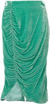 Vivetta - knee length velvet skirt - women - Silk/Acetate/Cupro/Viscose - 40