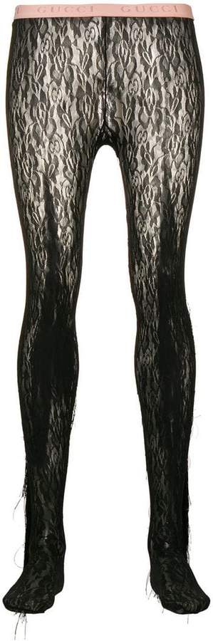 ee090ddb91531 Floral Lace Tights - ShopStyle