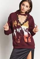 Forever 21 Def Leppard Cutout Sweatshirt