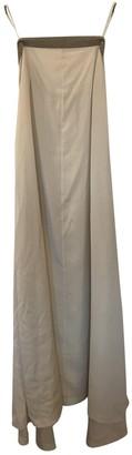 Brunello Cucinelli White Silk Dresses