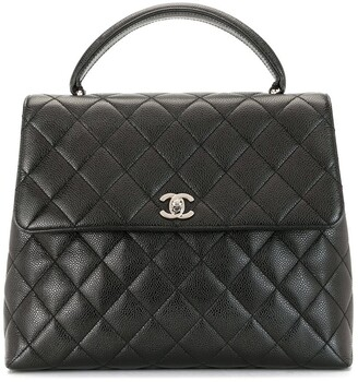 Chanel Pre Owned 2001 Diamond Quilted Tote Bag