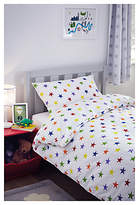 Great Little Trading Co Rainbow Star Print Cotton Duvet Cover and Pillowcase Set, Single