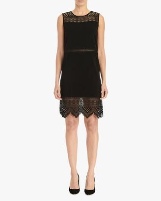 Carolina Herrera Lace-Insert Shirt Dress