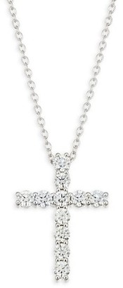 Hearts On Fire 18K White Gold & Diamond Cross Pendant Necklace