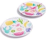 Celebrate Shop Celebrate Shop 4-Pc. Printed Melamine Plate Set, Created for Macy's