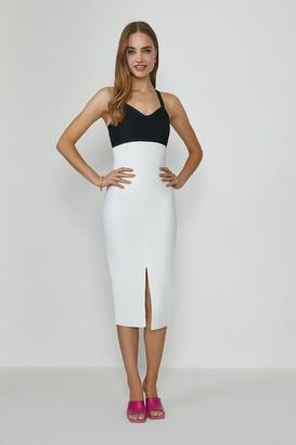 Coast Colour Block Bandage Midi Dress