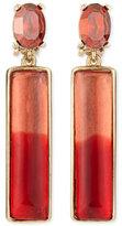 Oscar de la Renta Two-Tone Resin Drop Earrings, Berry