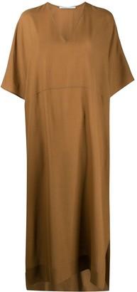 Agnona short sleeve long dress