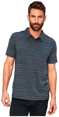 Threads 4 Thought James Dirt Road Stripe Polo (Maroon Rust) Men's Clothing