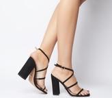 Office Hasty Iridescent Block Heels Black