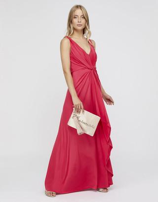 Under Armour Jessie Jersey Twist V Neck Maxi Dress Pink
