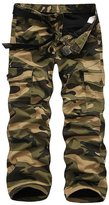 Roludom Men's Woodland Winter Fleece Lined Camouflage Cargo Pants