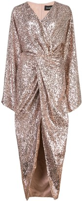 Rasario Glitter Wrap Dress