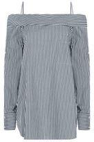 Robert Rodriguez Striped Off-The-Shoulder Shirt