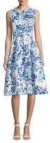 Eliza J Floral-Printed Midi Dress