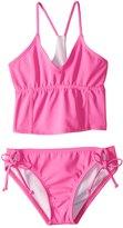 Reef Girls' Cove Solid Bralette Bikini Set (714) - 8152297