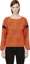 Avelon Orange Animal Textured Sweater