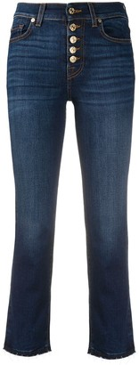 7 For All Mankind High-Rise Slim-Fit Jeans