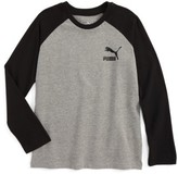Puma Boy's Logo Raglan T-Shirt