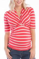 Ripe Maternity Megan Coral Top