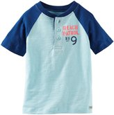 Osh Kosh Color Block Henley (Toddler/Kid) - Blue-7