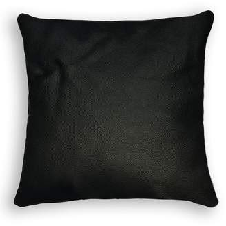 Natural Sienna Square Pebbled Leather Pillow