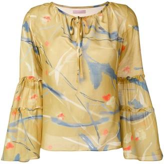 Kristina Ti tiered sleeve blouse