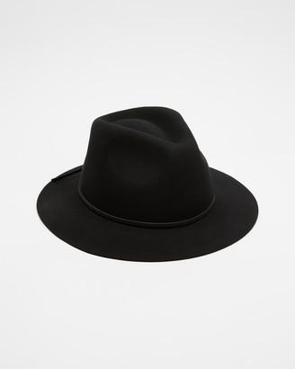 Brixton Black Hats - Wesley Fedora - Size XS at The Iconic